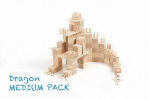 Houten blokken Just Blocks medium pack draak
