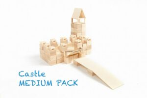 Houten blokken Just Blocks medium pack kasteel