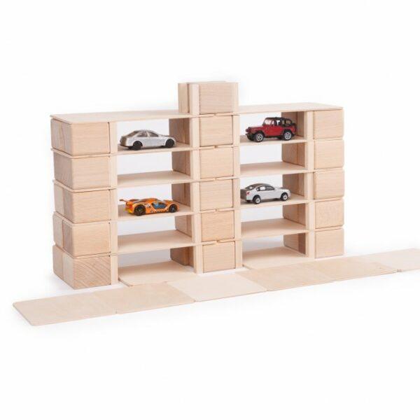 Houten blokken Just Blocks small pack garage