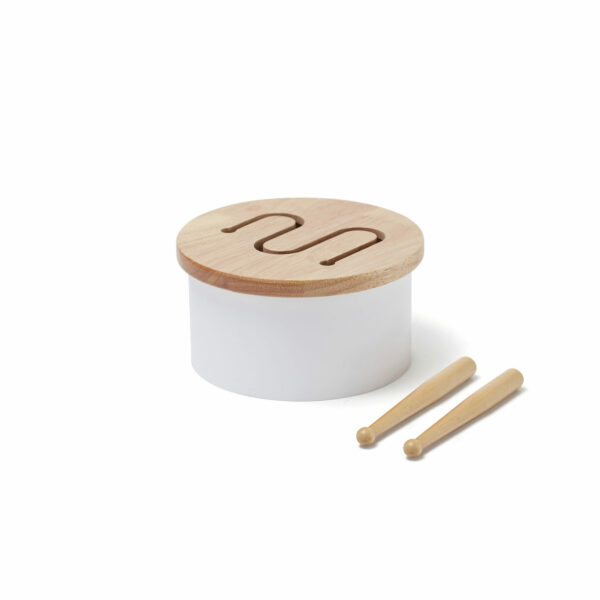 Mini trommel Kid's Concept wit stokjes