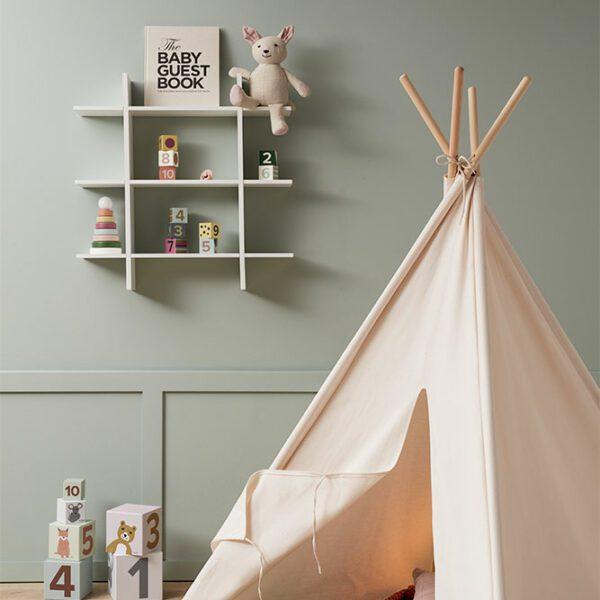 Tipi tent Kids Concept naturel wit