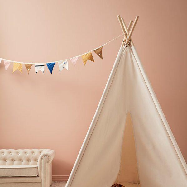 Tipi tent Kids Concept naturel wit woonkamer