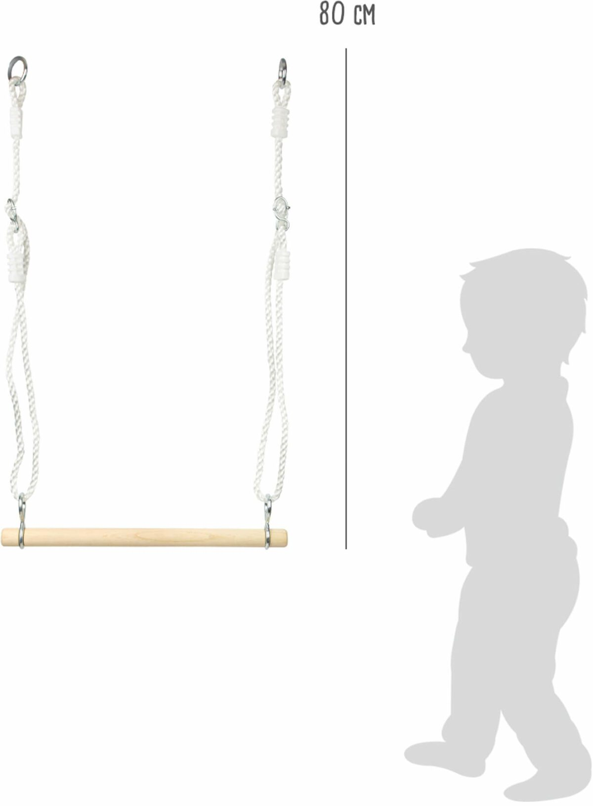 Houten Trapeze Small Foot afm.