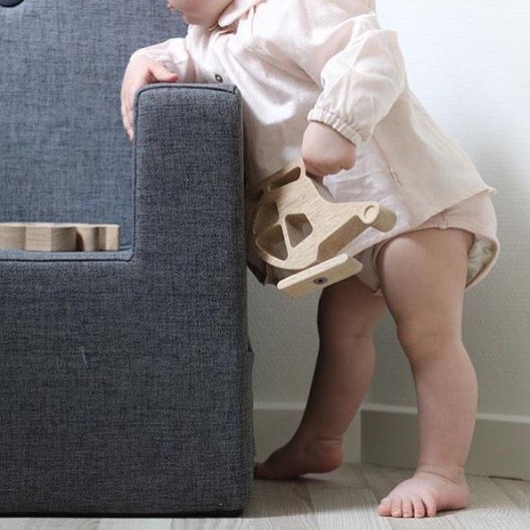 by KlipKlap KK Kids-Chair XL grijs 6