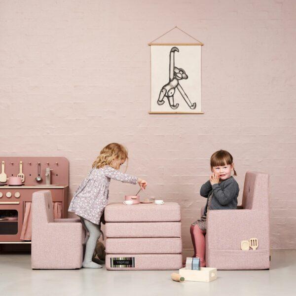 by KlipKlap KK Kids Chair XL, roze 2