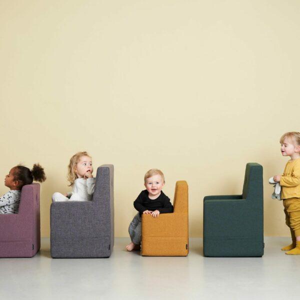 by KlipKlap KK Kids Chair, mostergeel 2