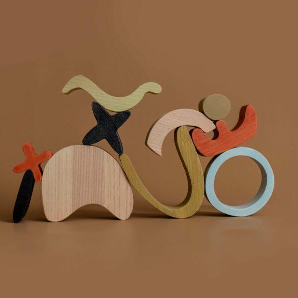 Abstracte houten bouwstenen MinMin Copenhagen-4