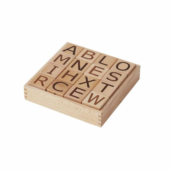 Houten blokken met alfabet Kid's Concept