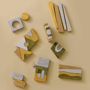 Houten puzzel abstract MinMin Copenhagen-1