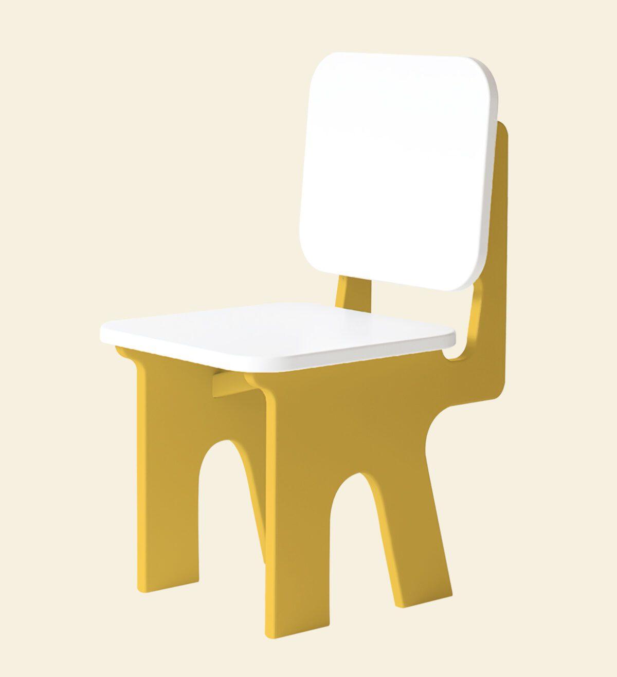 Kinderstoel Dippedee geel
