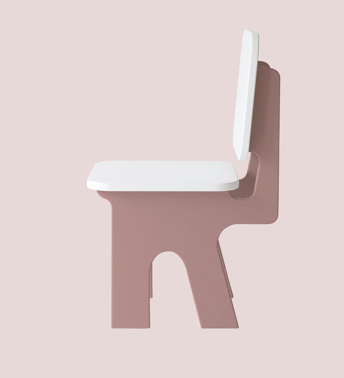 Kinderstoel met kindertafel Dipperdee zachtroze Jindl
