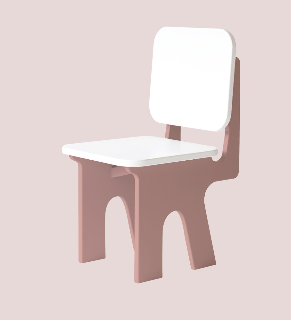 Kinderstoel met tafel Dipperdee zachtroze