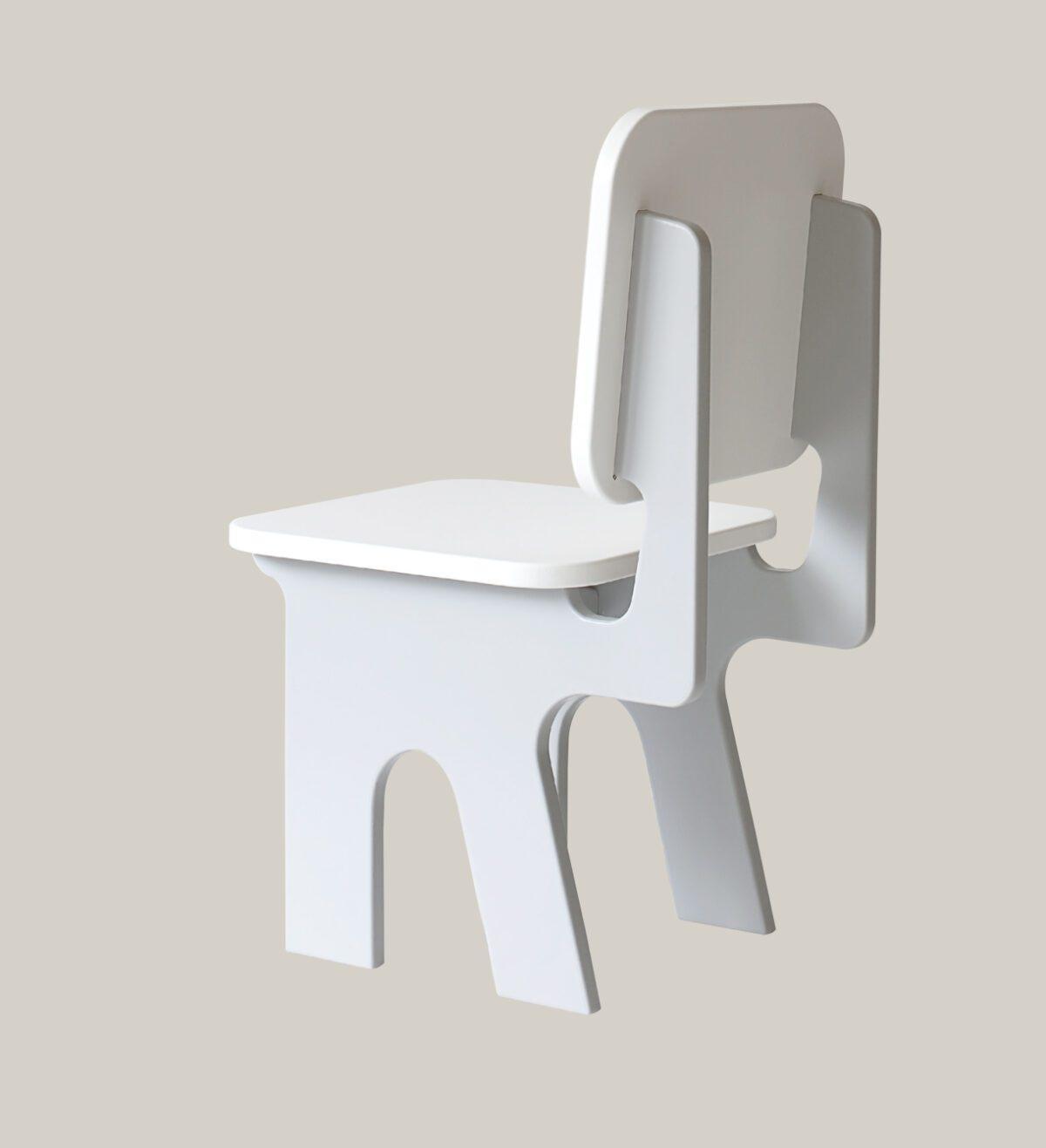 Kinderstoeltje met tafel dipperdee grijs zij-aanzicht
