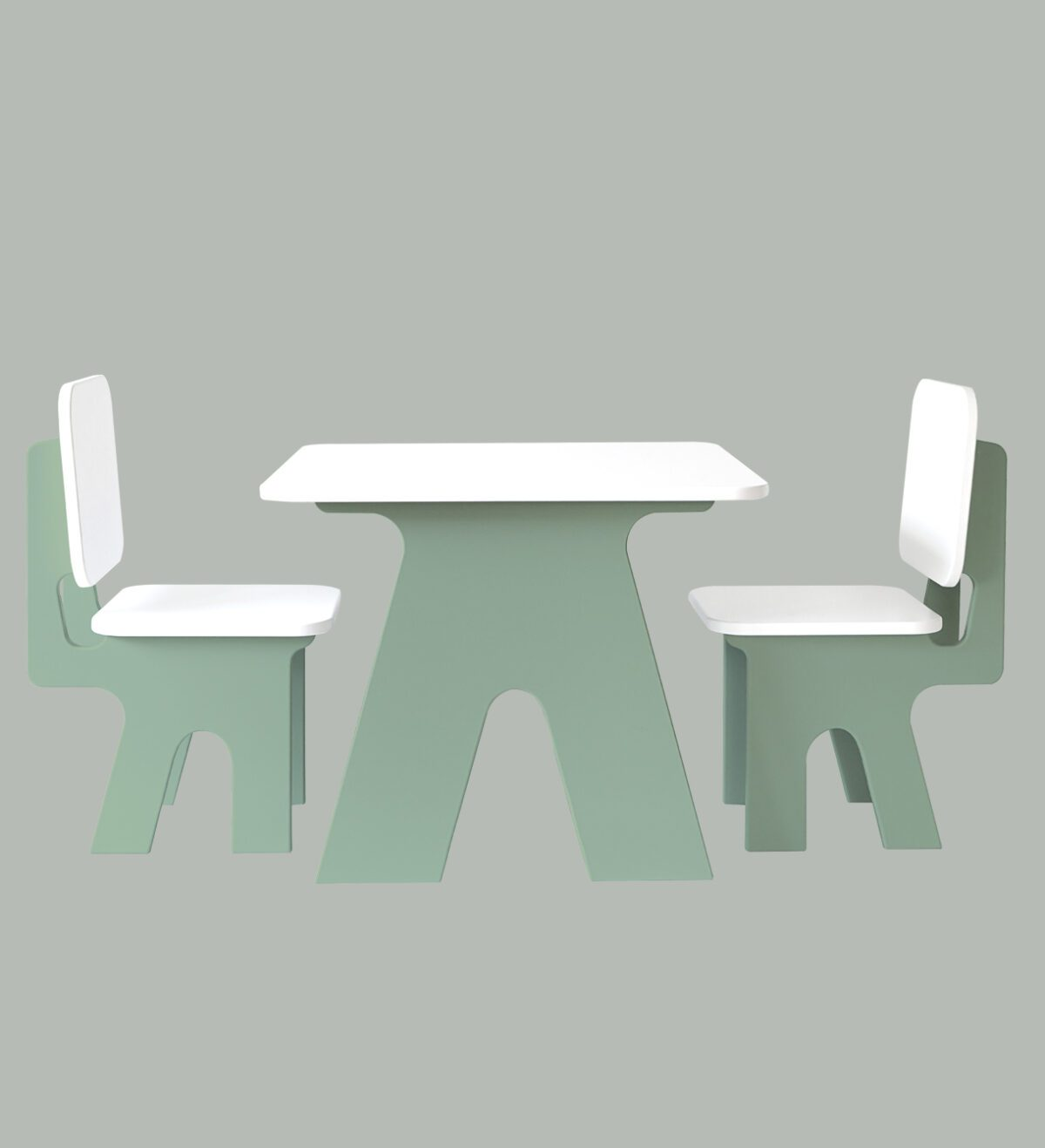 Kinderstoeltjes met tafel Dipperdee groe