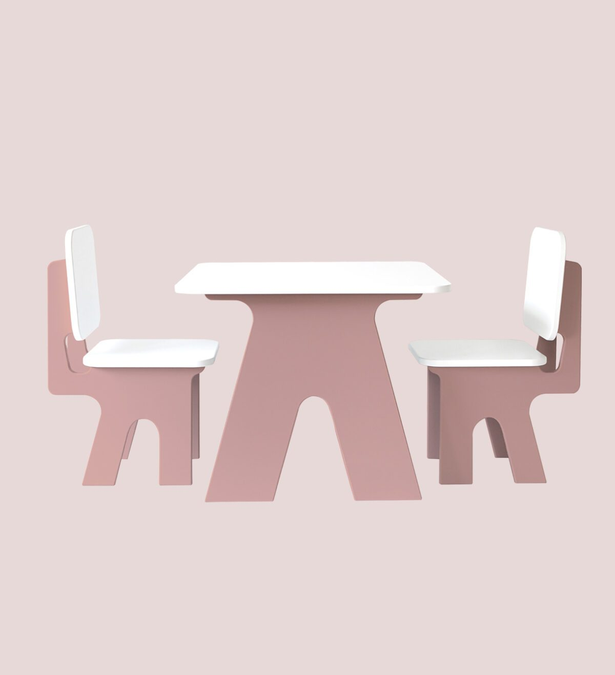 Kinderstoel met tafel roze dipperdee jindl