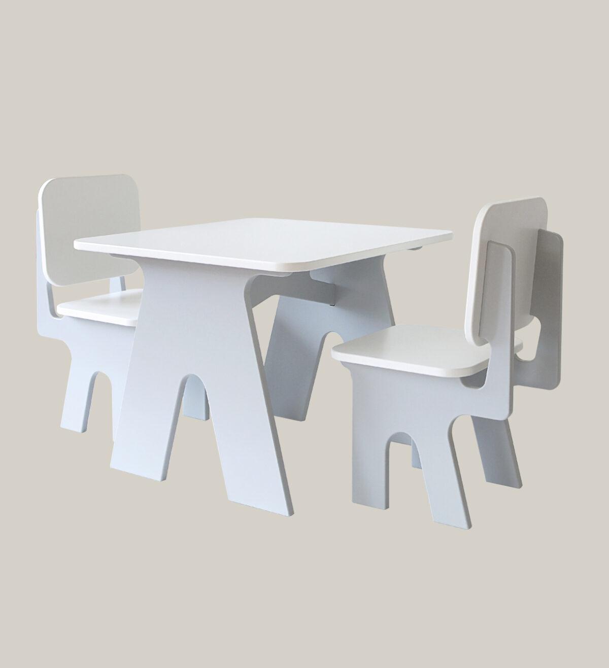 Tafeltje en stoeltjes set grijs dipperdee