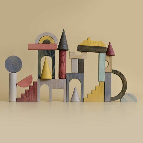 houten blokken en vormen MinMin Copenhagen