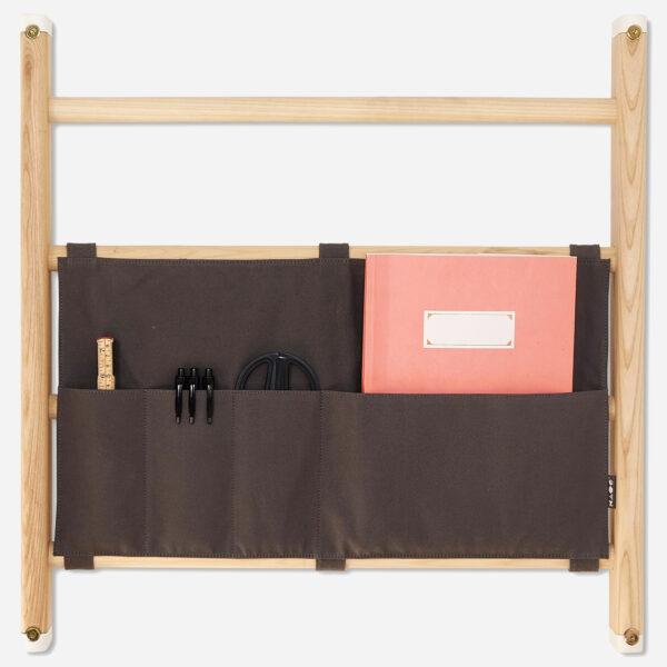 Canvas organizer KAOS grijs open-1