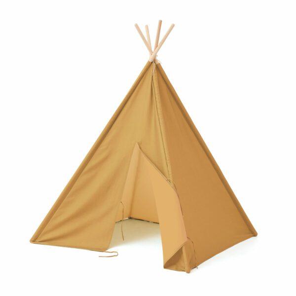 Tipi tent Kid's Concept, detail geel