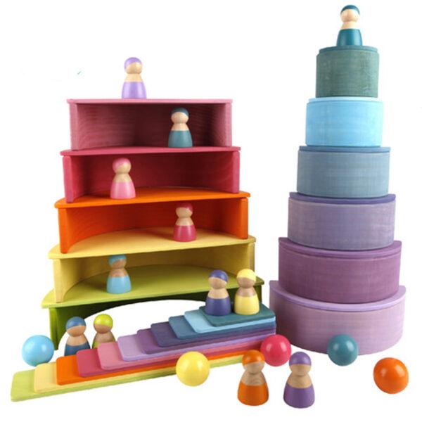 Montessori houten speelgoed set