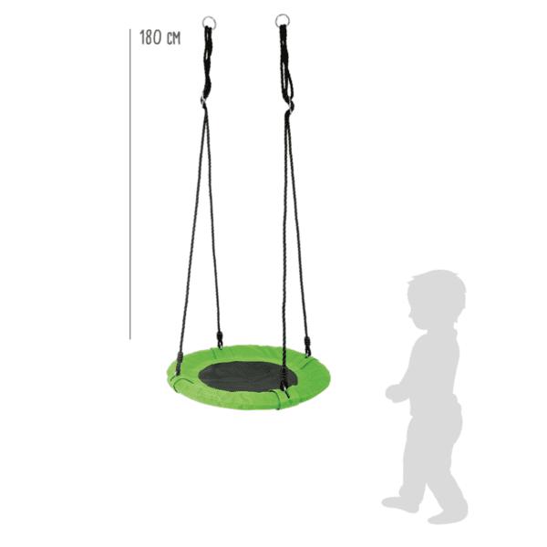 Nestschommel voor kinderen groen afmetingen