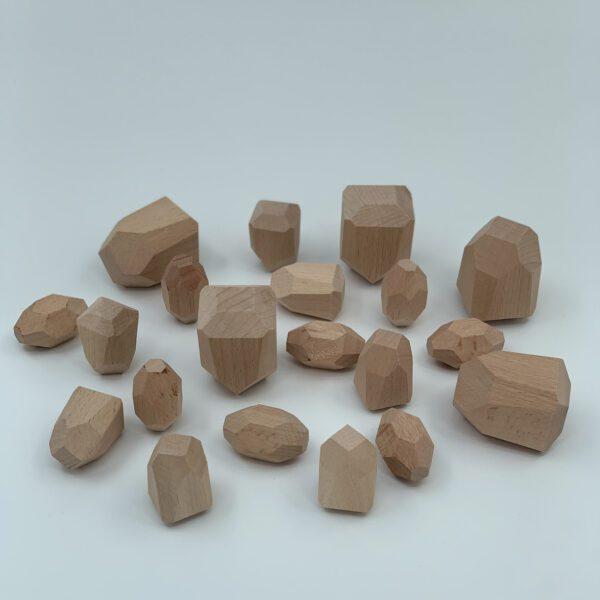 Houten bouwstenen balanceerstenen Jindl grote set