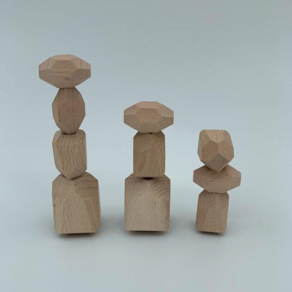 Houten bouwstenen balanceerstenen Jindl naturel 10 stuks
