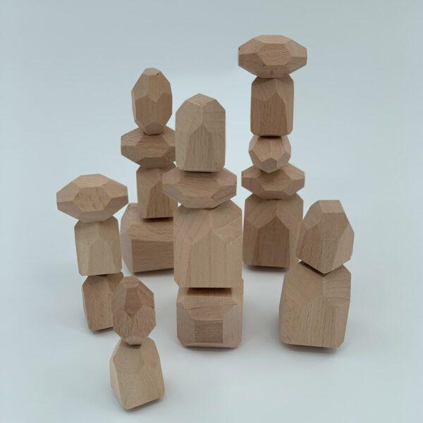 Houten bouwstenen balanceerstenen Jindl naturel 20