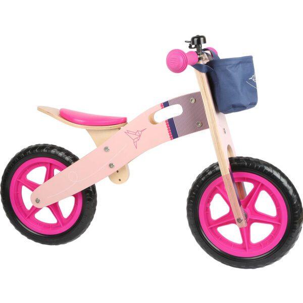 Houten-loopfiets-roze