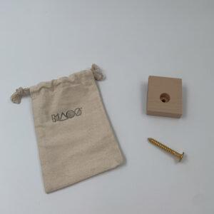 KAOS- muursteun klapstoel beuken uitvoering