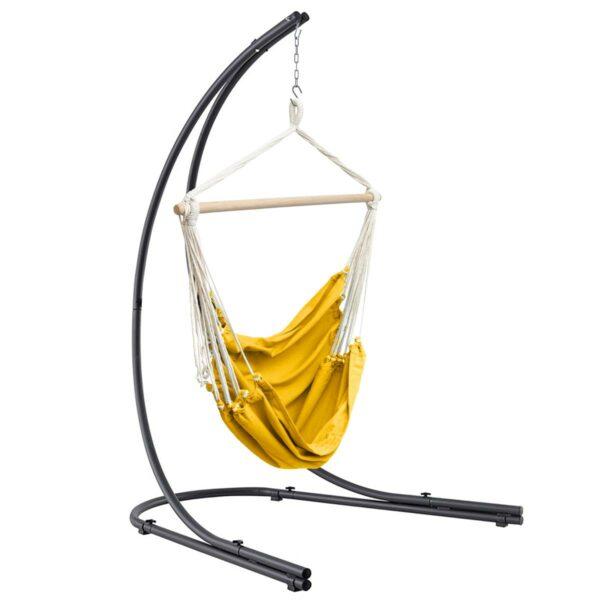 Hangstoel Jindl swing sfeer okergeel