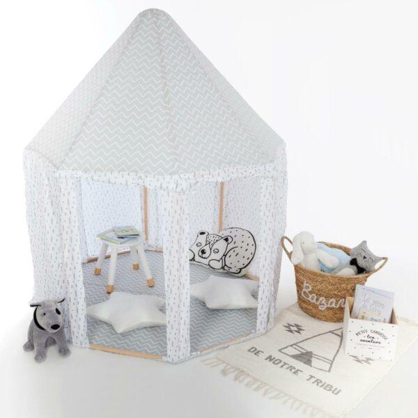 Speeltent   paviljoen Jindl Home sfeer grijs/wit