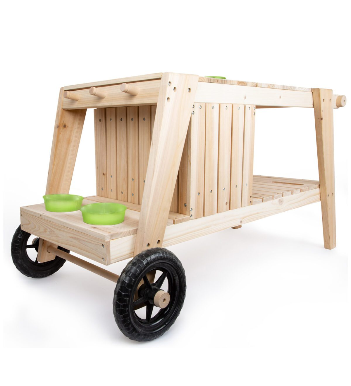 modderkeuken met wielen voor kinderen