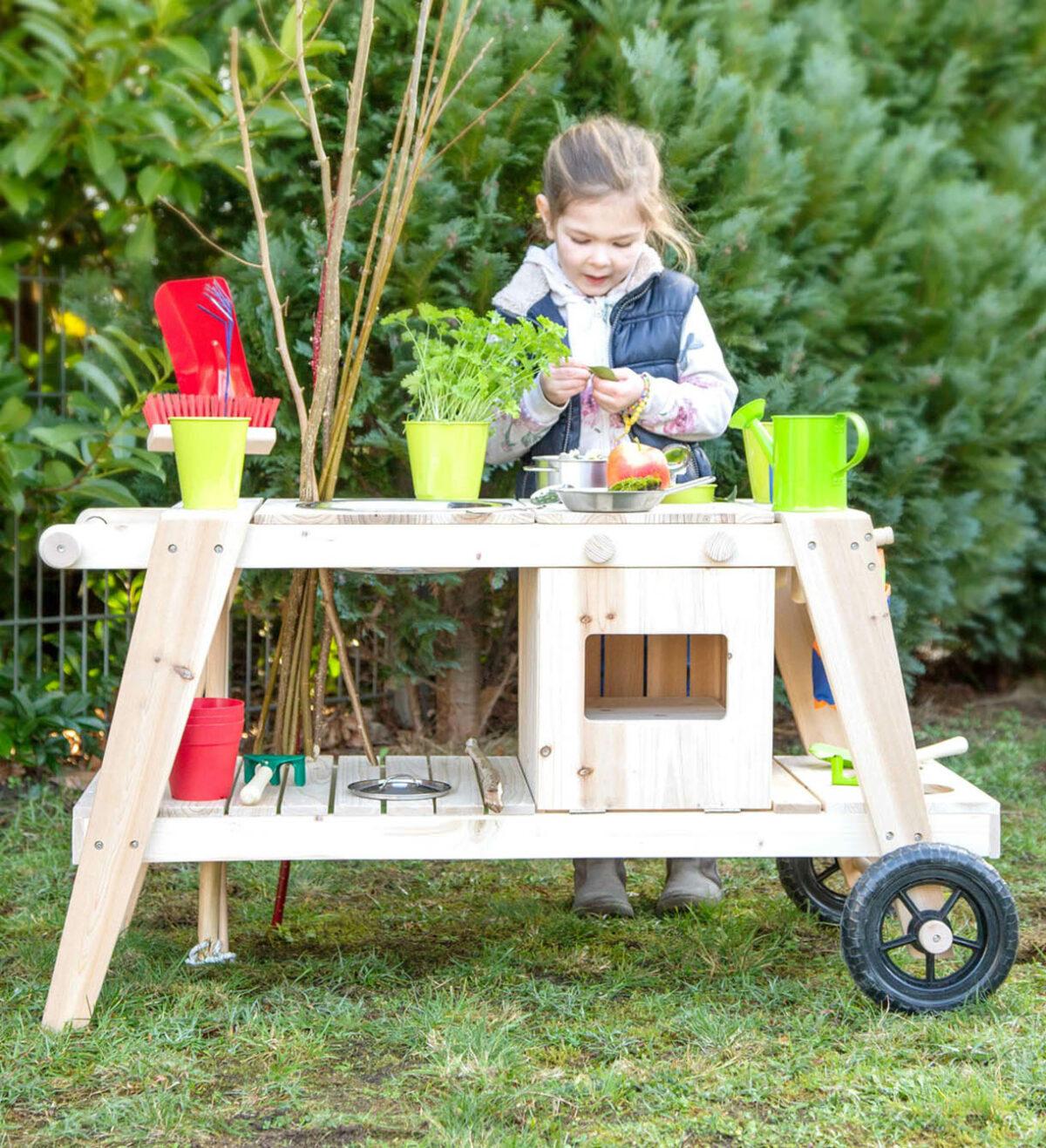 modderkeuken voor kinderen met wielen