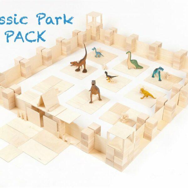 Houten blokken Just Blocks big pack Jurassic Park