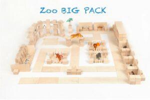 Houten blokken Just Blocks big pack dierentuin