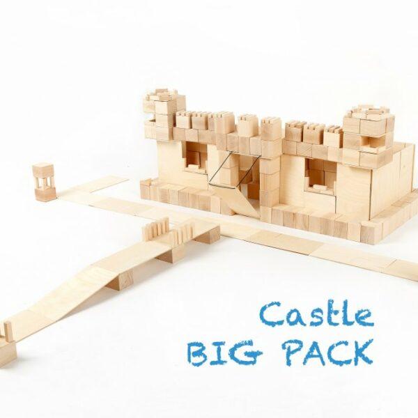 Houten blokken Just Blocks big pack kasteel