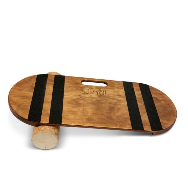 Balance board bruin met kurkrol Jindl