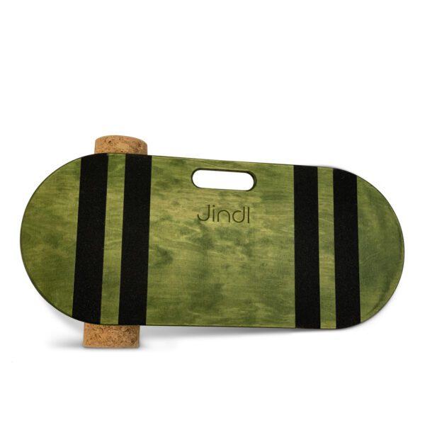 Balance board met kurkrol Jindl groen