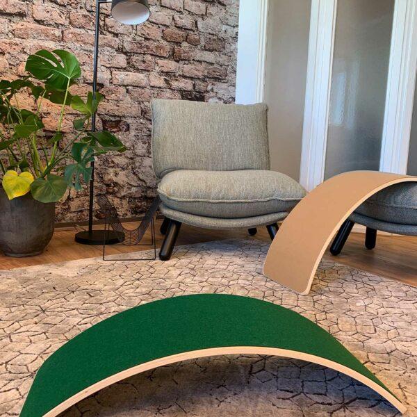 Balance board met vilt Jindl kaki en groen