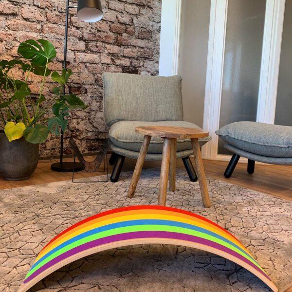 Balance board met vilt Jindl regenboogkleuren