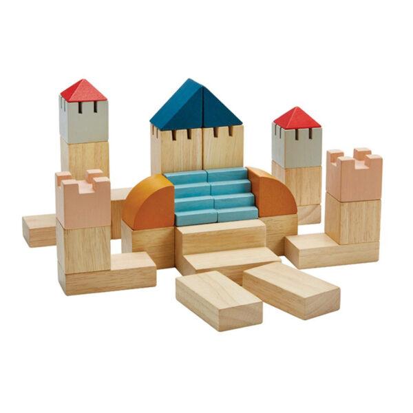 Blokkenset stad PlanToys