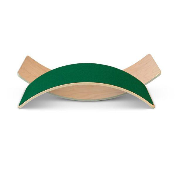 Houten balance board Jindl groen binnen en buitenkant