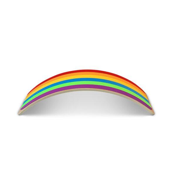 Houten balanceboard met vilt Jindl regenboog