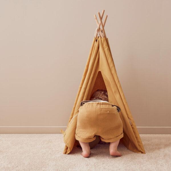Tipi Tent Kid's Concept mini okergeel